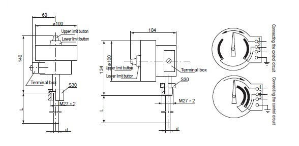 wssx electric contact bimetallic thermometer